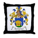 Sommer Family Crest  Throw Pillow