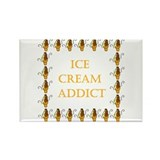 ice cream addict Rectangle Magnet