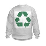 Vintage Green Recycle Sign Sweatshirt