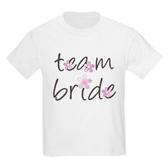 team bride t-shirt kids