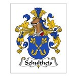 Schultheis Family Crest Small Poster
