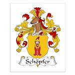 Schopfer Family Crest Small Poster