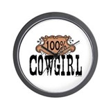 100% Cowgirl Wall Clock