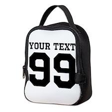 Custom Sports Jersey Number Neoprene Lunch Bag