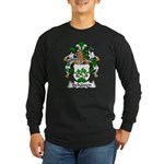 Schaven Family Crest Long Sleeve Dark T-Shirt