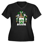 Schaven Family Crest Women's Plus Size V-Neck Dark