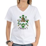 Schaven Family Crest Women's V-Neck T-Shirt