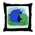 Black & Tan Dachshund Agility Throw Pillow