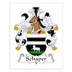 Schaper Family Crest Small Poster