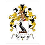 Schantz Family Crest Small Poster