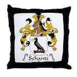 Schantz Family Crest Throw Pillow