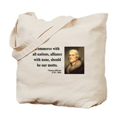Thomas Jefferson 10 Tote Bag