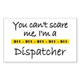 Police Tape Dispatcher Rectangle Stickers