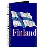"5""x8"" Finland Flag Journal"
