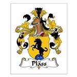 Plass Family Crest Small Poster