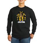 Plass Family Crest Long Sleeve Dark T-Shirt