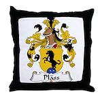 Plass Family Crest Throw Pillow