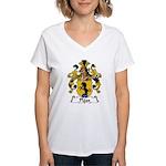 Plass Family Crest Women's V-Neck T-Shirt