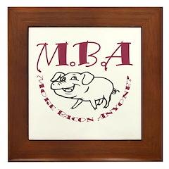 MBA Bacon Pig Framed Tile