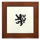 Cute Czech coat of arms Framed Tile