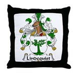 Lindequist Family Crest Throw Pillow