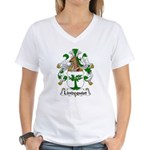 Lindequist Family Crest Women's V-Neck T-Shirt