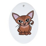 Abyssian Cat Oval Ornament