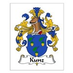 Kunz Family Crest Small Poster