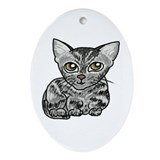 American Shorthair Cat Oval Ornament