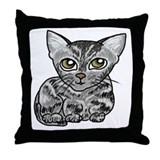 American Shorthair Cat Throw Pillow