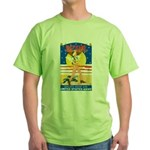 Army Defend Your Country (Front) Green T-Shirt