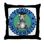Teddy University Throw Pillow