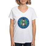 Teddy University Women's V-Neck T-Shirt