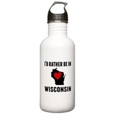 Id Rather Be In Wisconsin Water Bottle