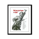Patriot Just Begun to Fight Framed Panel Print