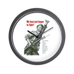 Patriot Just Begun to Fight Wall Clock