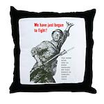 Patriot Just Begun to Fight Throw Pillow