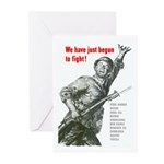 Patriot Just Begun to Fight Greeting Cards (Pk of
