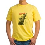 Patriot Just Begun to Fight (Front) Yellow T-Shirt