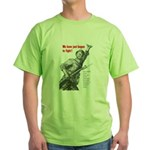 Patriot Just Begun to Fight (Front) Green T-Shirt