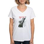 Patriot Just Begun to Fight Women's V-Neck T-Shirt