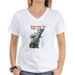 Patriot Just Begun to Fight (Front) Women's V-Neck