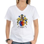 Gasser Family Crest Women's V-Neck T-Shirt