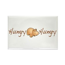 The Hungry Hippo Rectangle Magnet (100 pack)