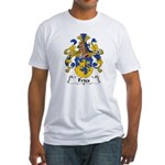 Fries Family Crest  Fitted T-Shirt