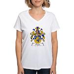 Fries Family Crest  Women's V-Neck T-Shirt