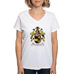 Freymann Family Crest  Women's V-Neck T-Shirt