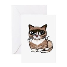 Snowshoe Cat Lover Greeting Card