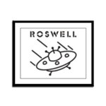 Roswell Pixelated UFO Framed Panel Print
