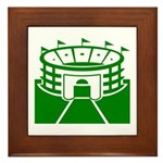 Green Stadium Framed Tile